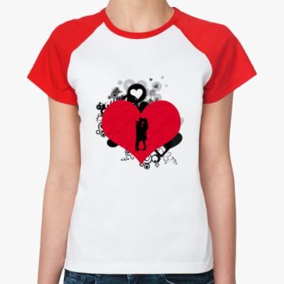 Женская футболка реглан Влюбленные