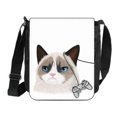 """Сумка на плечо (мини-планшет) Сумка на плечо """"Grumpy Cat"""""""
