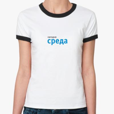 Женская футболка Ringer-T 7day Среда
