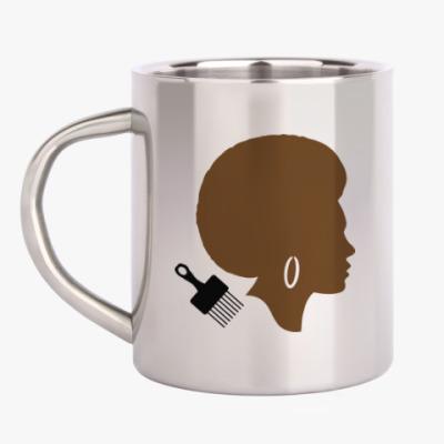Кружка металлическая Afro Lady