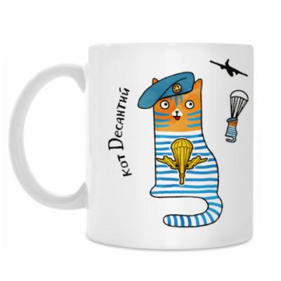 Кружка кот Десантий  из серии 'Military cats'