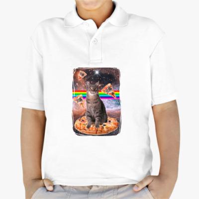 Детская рубашка поло Космический кот