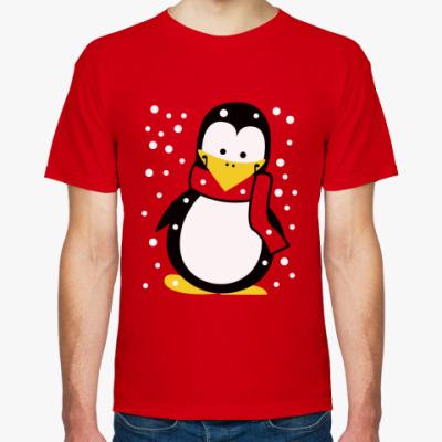 Футболка  Зимний пингвин