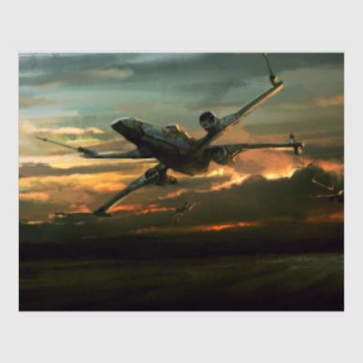 Постер 'X-wing на закате'