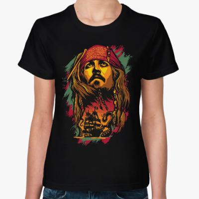 Женская футболка Джек Воробей