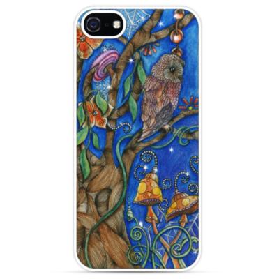 Чехол для iPhone Сова в волшебном лесу