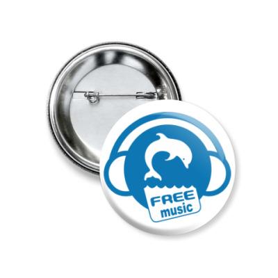 Значок 37мм Free Music