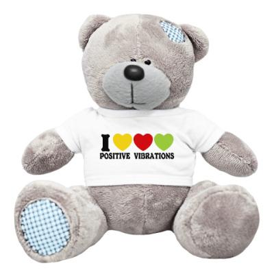 Плюшевый мишка Тедди Люблю позитивные вибрации
