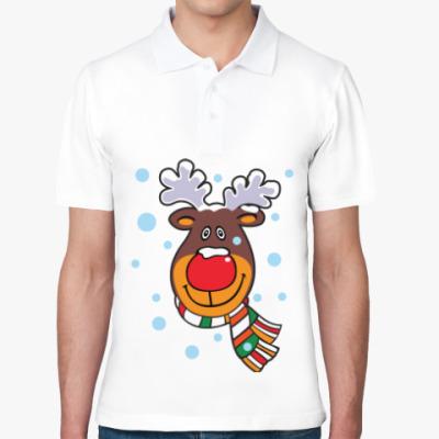 Рубашка поло Олень с шарфом