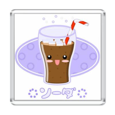 Магнит кавайный магнит кока-кола