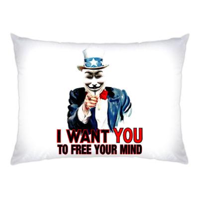 Подушка Anonymous Uncle Sam