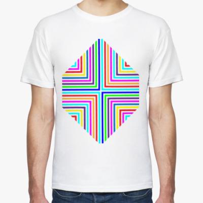 Футболка Цветные треугольники.