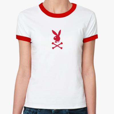 Женская футболка Ringer-T плейбой