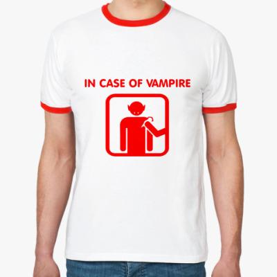 Футболка Ringer-T In Case Of Vampire