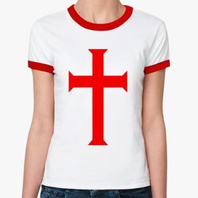 Женская футболка Ringer-T Templar Cross