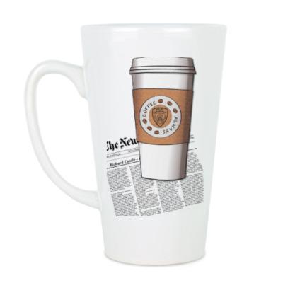 Чашка Латте castle - coffee with love