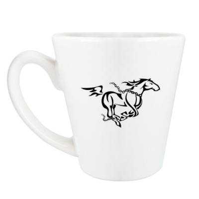 Чашка Латте Бегущая лошадь