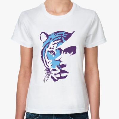 Классическая футболка Тигр фолетовый