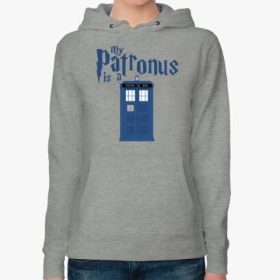 Женская толстовка худи My Patronus is a TARDIS