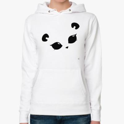 Женская толстовка худи Панда