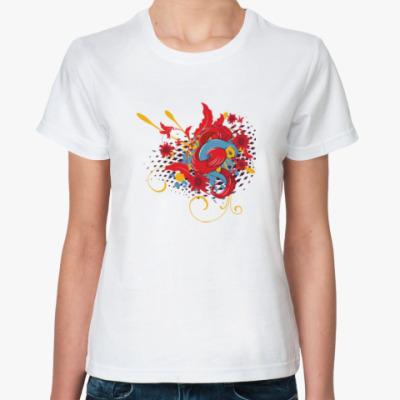 Классическая футболка Очаровательная птичка