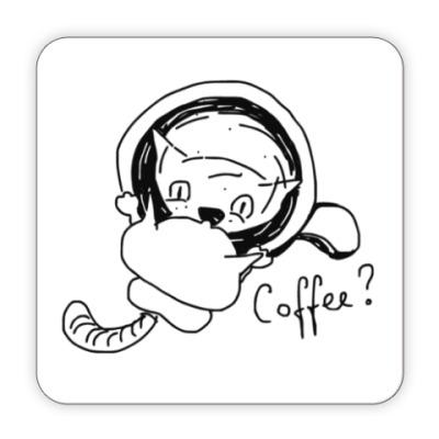 Костер (подставка под кружку) Кофе?