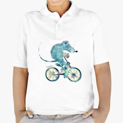 Детская рубашка поло Велосипедная прогулка