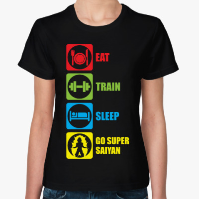 Женская футболка Супер Сайян (Жемчуг дракона)