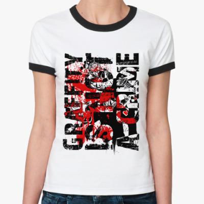 Женская футболка Ringer-T Graffity  Ж ()