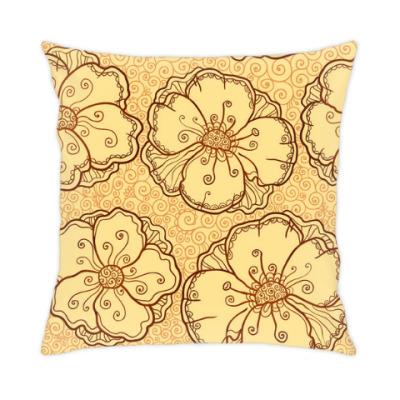 Подушка Карамельные цветы