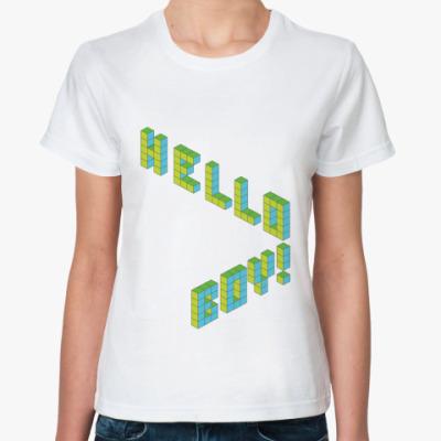 Классическая футболка Hello boy!