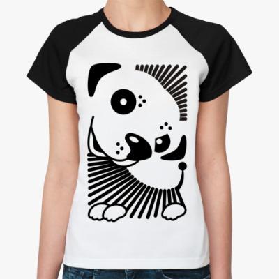 Женская футболка реглан  Собачка