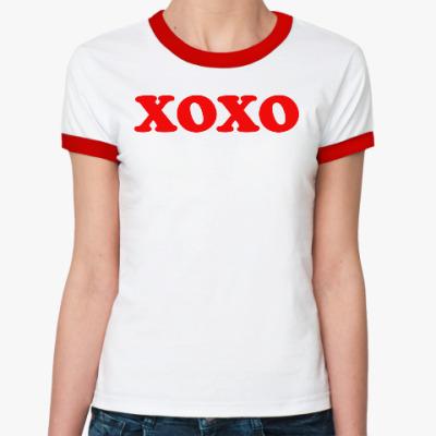 Женская футболка Ringer-T xoxo