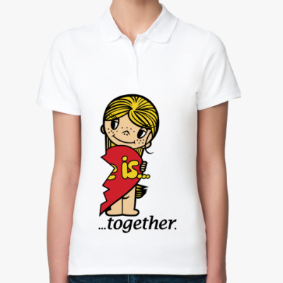 Женская рубашка поло  Love is