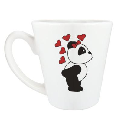 Чашка Латте Влюбленная панда