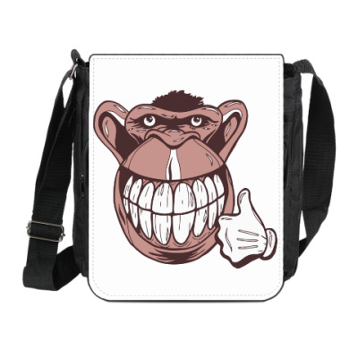 Сумка на плечо (мини-планшет) Веселая обезьяна