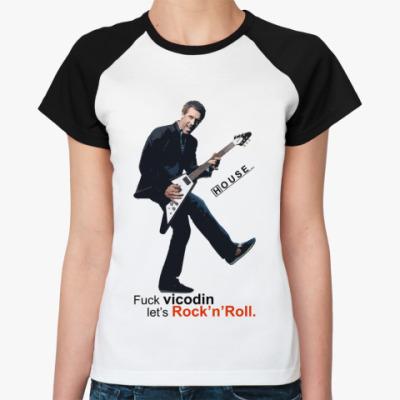 Женская футболка реглан Fuck Vicodin