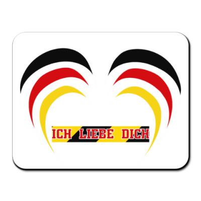 Коврик для мыши Я люблю тебя по-немецки