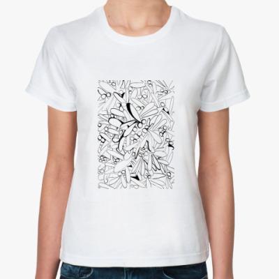 Классическая футболка 'Стрекозы!'