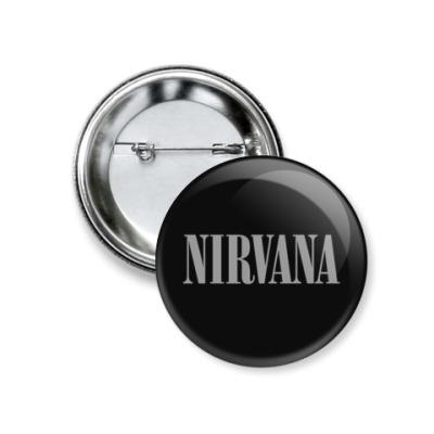 Значок 37мм  Nirvana