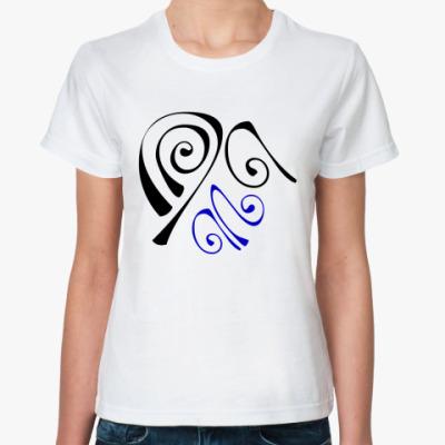 Классическая футболка Завитки