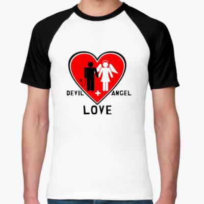 Футболка реглан Devil+Angel