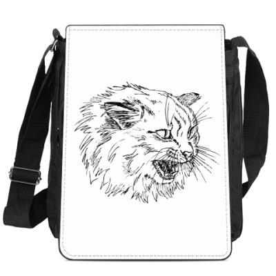 Сумка-планшет Злой кот