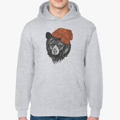 Толстовка худи Медведь в шапке