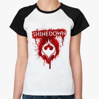 Женская футболка реглан Shinedown