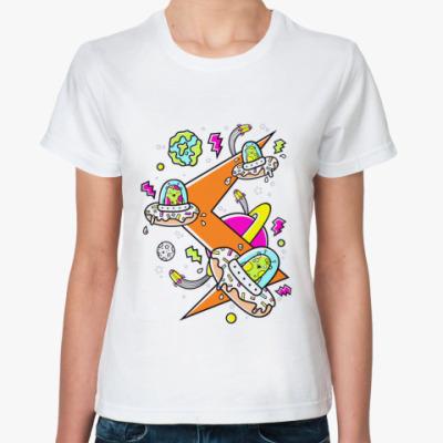Классическая футболка Donut Aliens