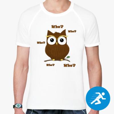 Спортивная футболка Любопытный совёнок
