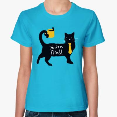 Женская футболка Черный Кот