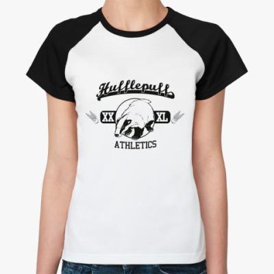 Женская футболка реглан Hufflepuff  Жен