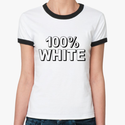 Женская футболка Ringer-T 100% WHITE